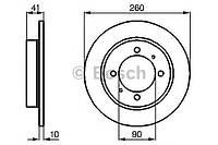"Гальмівний диск mitsubishi/volvo carisma/s40/v40 r ""03 (производство Bosch ), код запчасти: 0986478898"
