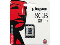 Карта памяти 8Gb microSDHC, Kingston Class 4