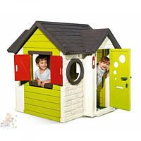 Детский игровой пластиковый Домик Smoby с замком и звонком, 310228