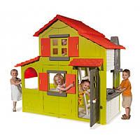 Детский двухэтажный домик Smoby 320021 с кухней и звонком