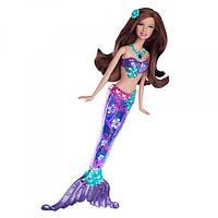 Barbie Барби Сверкающие огоньки шатенка Sparkle Lights Mermaid