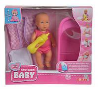 Мини пупс с ванночкой New Born Baby 12 см (503 3218)