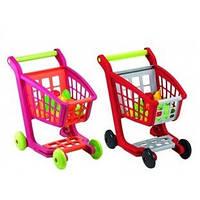Игрушечная тележка для супермаркета 668-14-5: 2 цвета, 27 продуктов, 43,5х50х30 см