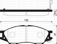 Колодка тормозная SAMSUNG SM3, Nissan ALMERA CLASSIC 06- передн. (производство Sangsin brake ), код запчасти: SP1156