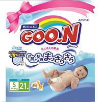 Подгузники GOO.N для детей 4-8 кг (размер S, на липучках, унисекс, 21 шт)