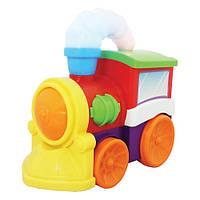 Развивающая игрушка - МУЗЫКАЛЬНЫЙ ПАРОВОЗ (на колесах, свет, звук)
