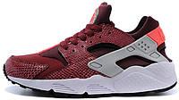 Женские кроссовки Nike Air Huarache (найк хуарачи) бордовые