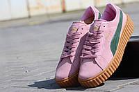 Puma x Rihanna Suede Женские кроссовки ярко розовые