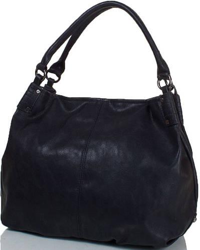 Практичная женская сумка из искусственной кожи ANNA&LI (АННА И ЛИ) TU14163-black (черный)