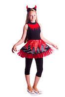 Чертик карнавальный костюм на хэллоуин для девочки
