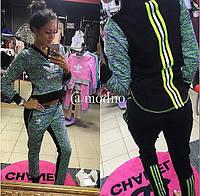 Костюм спортивный Adidas женский с лампасами разные цвета SKm119