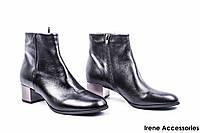 Ботильоны женские кожаные Sala (ботинки на маленьком каблуке, внутри кожа)