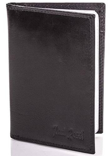 Мужской кожаный органайзер для документов  PAUL ROSSI (ПОЛ РОССИ) DNK719-GP-black Черный
