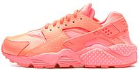 Женские кроссовки Nike Air Huarache (найк хуарачи) коралловые