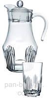 Orient Набор для воды (кувшин 1,6л+ стакани 270мл-6шт) 7 предметов стекло Arcopal