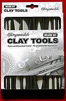 Набор инструментов для лепки стеки 8 шт (двухсторние 28 шт)