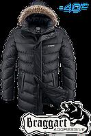 Мужская удлиненная черная зимняя парка Braggart арт. 3632