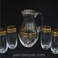 Club Набор для воды (кувшин 1,5л+ стакани 350мл-6шт) 7 предметов богемское стекло Bohemia