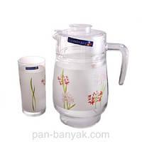 Jacinthe Набор для воды (кувшин 1,6л+ стакани 270мл-6шт) 7 предметов стекло Luminarc