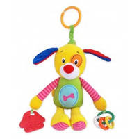Плюшевая  игрушка Baby Mix  с клипсой TE-8203-23D Собачка