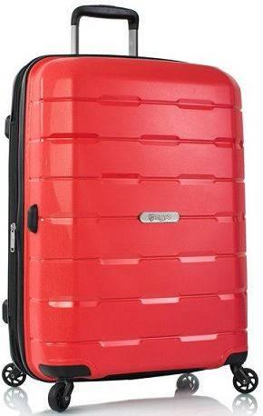 Прекрасный пластиковый 4-колесный чемодан 70л. Heys Zeus (M) Red, 922970 красный