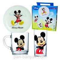 Disney Mickey Colors Набор для детей 3 предмета ударопрочное стекло Luminarc