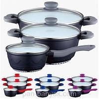 Набор посуды 6 предметов керамическое антипригарное покрытие Petergoff