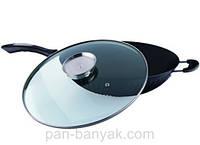 Сковорода WOK с крышкой d34 см алюминий с антипригарным покрытием Petergoff