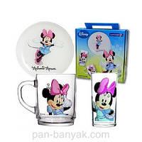 Disney Minnie Colors Набор для детей 3 предмета ударопрочное стекло Luminarc