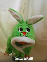 Детский халат Зайка с ушками светло зеленый