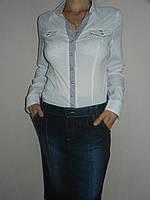 Рубашка белая офисная женская стрейч р. 42-50 Mingtao 3264