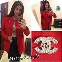 Пиджак Chanel модный яркий на подкладке в разных цветах 1SRmil129