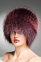 Меховая шапка Кубанка из Енота (бордо)