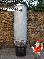 Бак титана дровяной колонки на 200 литров (с дополнительным фланцем для очистки и электрическим теном)