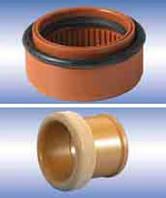Патрубок для соединения гладкого конца трубы ПВХ с раструбом бетонной трубы