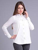 Рубашка белая, из двух видов ткани - хлопок и вискоза, 48-52 р-ры