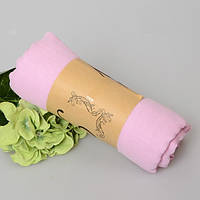 Модный женский воздушный шарф нежного розового цвета