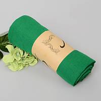 Модный женский воздушный шарф яркого зеленого цвета