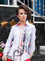 """Блузка с принтом в стиле """"Ручная  роспись"""""""