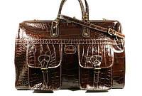 Кожаный мужской дорожный саквояж, сумка Desisan 708 темно-коричневая