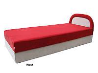 Ривьера Кровать с матрасом (90х200) мебельная ткань
