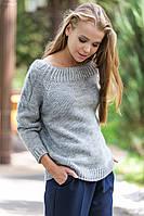Женский модный вязаный свитер, вязаная одежда р.44-48