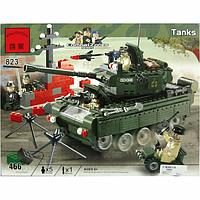 Конструктор Brick 823 Военный танк, 466 деталей