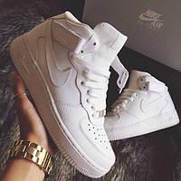 Женские кроссовки Nike Air Force High White