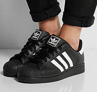 Женские кроссовки Adidas Superstar Black