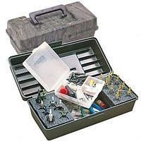 Коробка пластмассовая MTM Magnum Broadhead Box для 20 наконечников стрел и прочих комплектующих. Размеры – 30х13х10 см. Цвет – камуфляж.