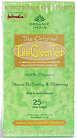 Чай Тулси, базилик - Зелёный чай, Tulsi-Green tea, Organic, 25 пакетов, Аюрведа Здесь
