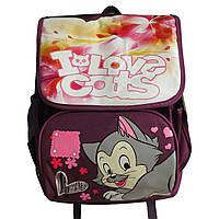 """Школьный рюкзак для девочек """"I love cats"""". Высокое качество. Оригинальный дизайн. Удобный рюкзак. Код: КДН506"""