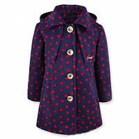 Стильное пальто для девочки из кашемира