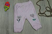 Детские штаны с аппликацией на девочку материал велюр, возраст, 3м, 6м,9м,12м BONNE BABY Турция